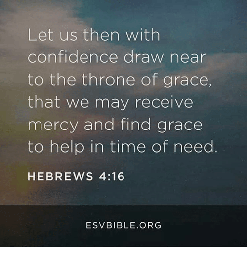 Let Us Then With Confidence Draw Near To The Throne Of Grace That We