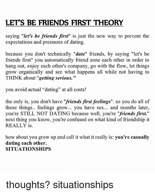 dating avoid friend zone