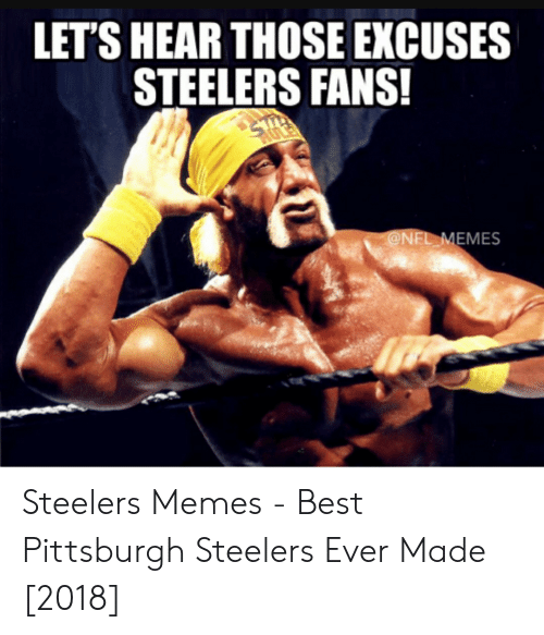 Lets Hear Those Excuses Steelers Fans Onel Emes Steelers Memes