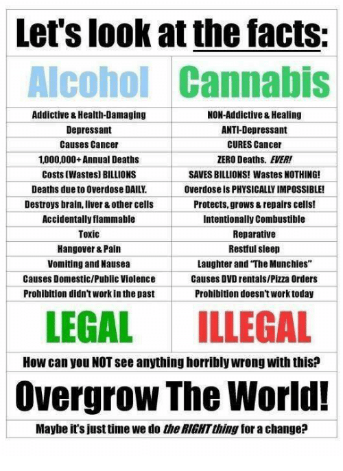 Let's Look at the Facts Alcohol Cannabis Addictive ...