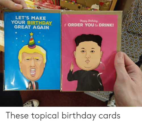 Birthday Politics And Happy LETS MAKE YOUR BIRTHDAY GREAT AGAIN Bixthday 1 These Topical Cards