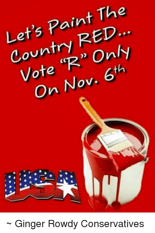 Memes Paint And Rowdy Let S The Country Red Vote R