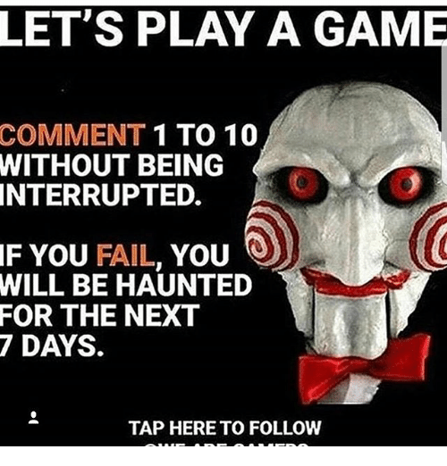 let s play a game comment 1 to 10 being without interrupted if you