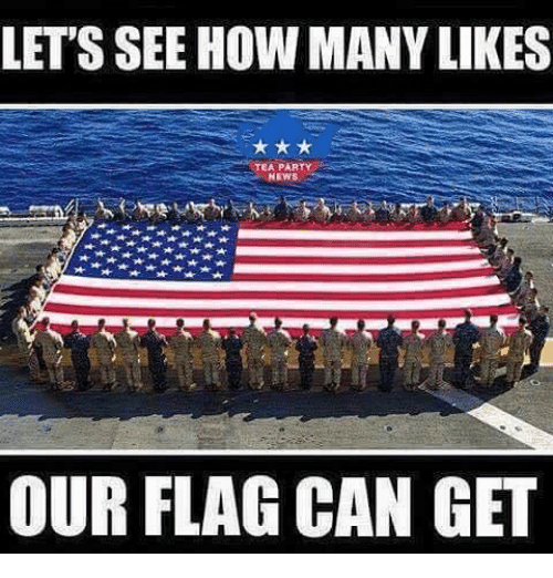 Memes, News, and Party: LET'S SEE HOW MANY LIKES  TEA PARTY  NEWS  OUR FLAG CAN GET