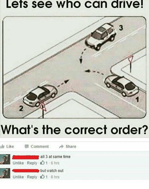 Lets See Who Can Drive! What's The Correct Order? Like