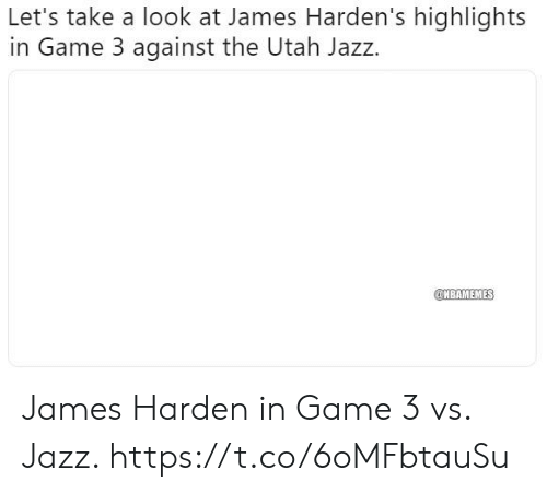 James Harden Vs Jazz: Let's Take A Look At James Harden's Highlights In Game 3