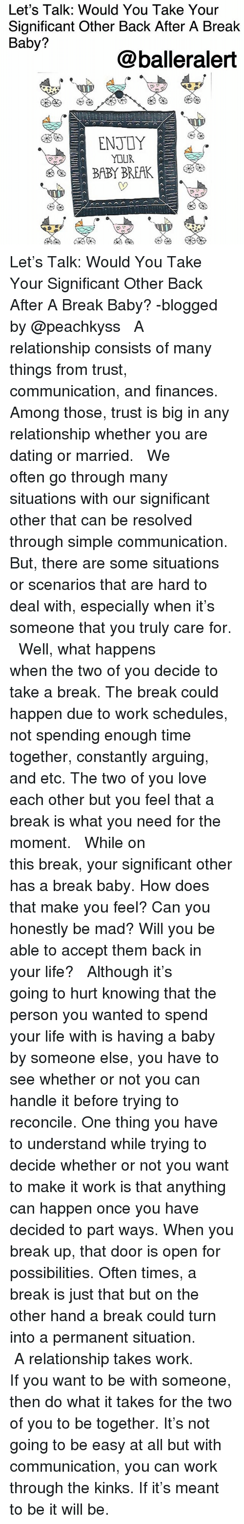what happens when you take a break from relationship