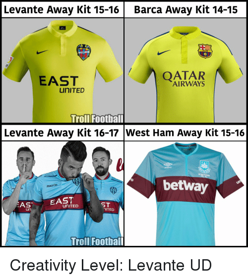 7460e532976 Levante Away Kit 15-16 Barca Away Kit 14-15 EAST AIRWAYS uniTED ...