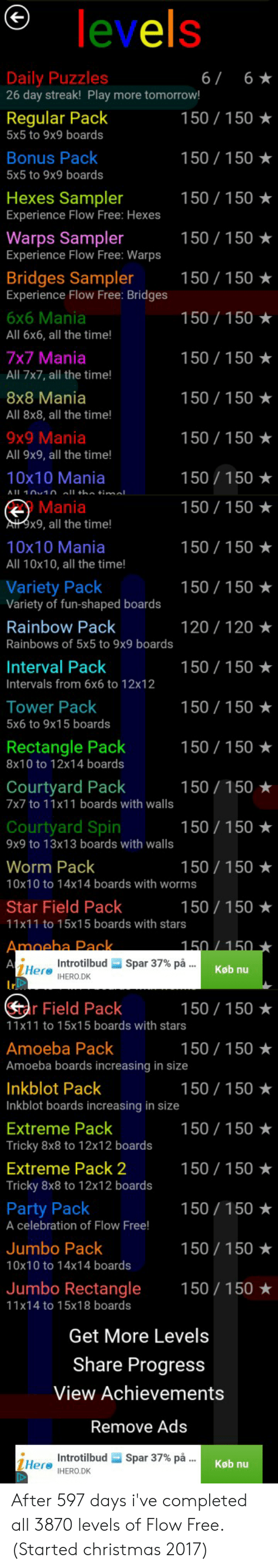Levels Daily Puzzles 26 Day Streak Play More Tomorrow 6 6 150 150 Regular Pack 5x5 To 9x9 Boards 150 150 Bonus Pack 5x5 To 9x9 Boards 150 150 Hexes Sampler Experience