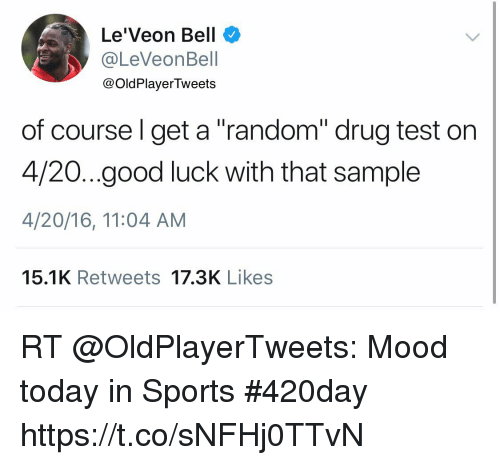 LeVeon Bell Of Coursel Get A Random Drug Test On 420good Luck With