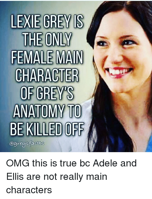 LEXIE GREY S THE ONLY FEMALE MAIN CHARACTER OF GREYS ANATOMY TO BE ...