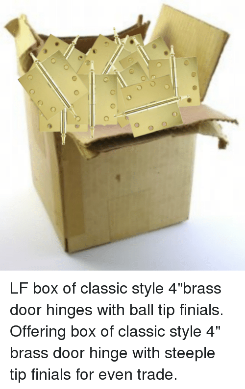 LF Box Of Classic Style 4brass Door Hinges With Ball Tip ...