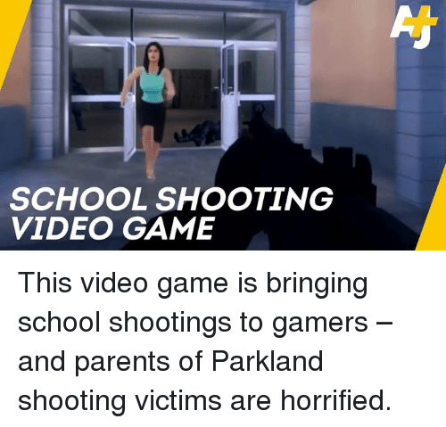 Lf SCHOOL SHOOTING VIDEO GAME This Video Game Is Bringing