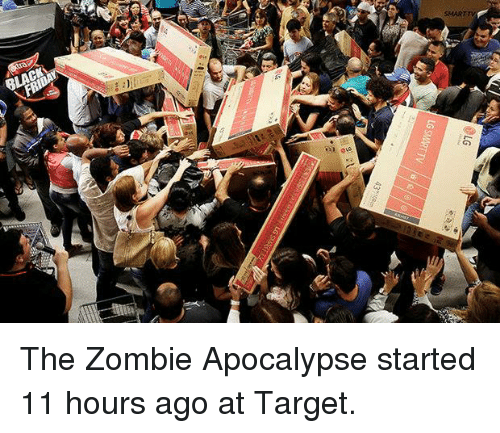 LG SMART TV the Zombie Apocalypse Started 11 Hours Ago at Target