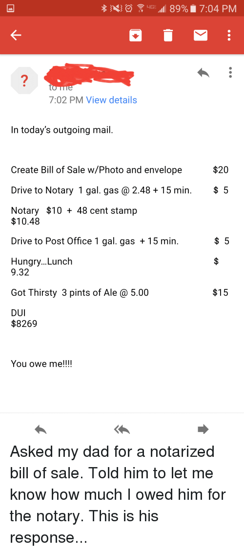 how do you make a bill of sale