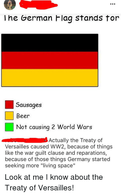 Lhe German Flag Stands for Sausages Beer Not Causing 2 World Wars