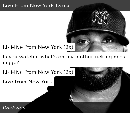 Li-Li-Live From New York 2x Is You Watchin What's on My