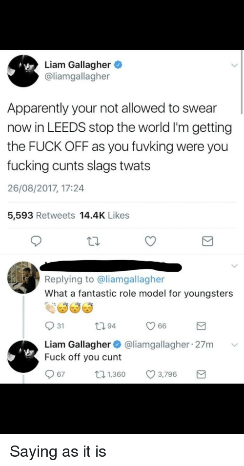 Were Is liam a cunt valuable