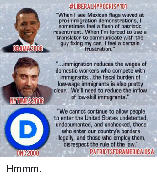 Audacity Of Hope Quotes: #LIBERALHYPOCRISYIOI When I See Mexican Flags Waved At Pro