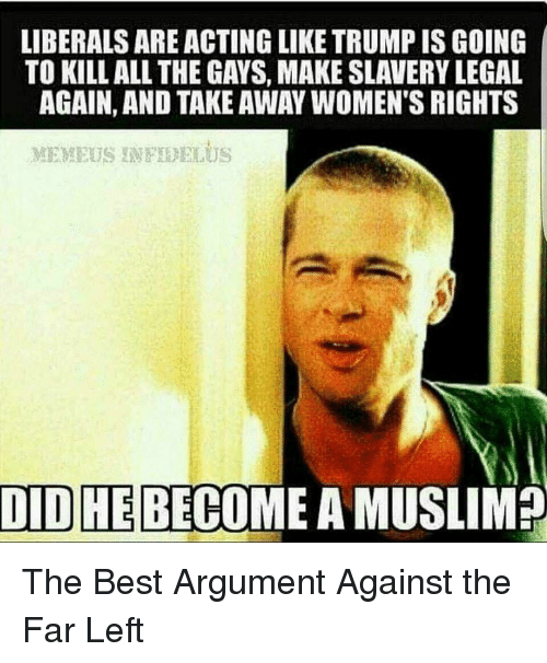 why do liberals like muslims