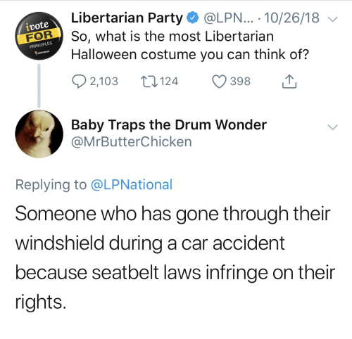Halloween Costume 398.Libertarian Party 102618 Halloween Costume You Can Think Of 2103