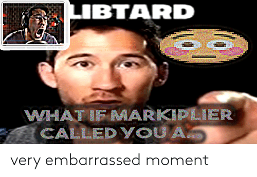 Markiplier, Moment, and Embarrassed: LIBTARD  WHATIF MARKIPLIER  CALLEDYOUA very embarrassed moment