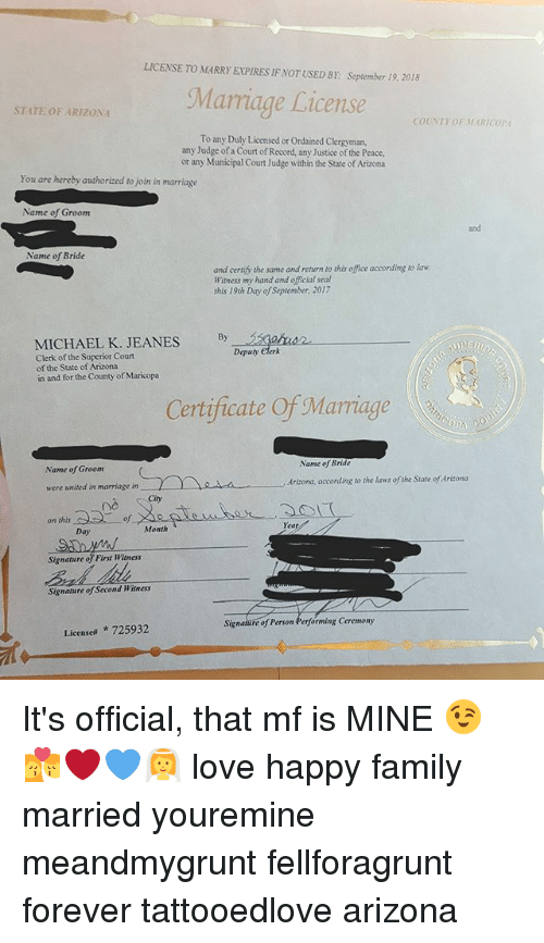 recorded marriage licenses maricopa county