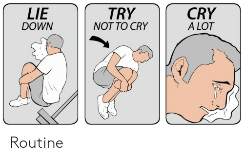 Down, Cry, and Lie: LIE  CRY  TRY  DOWN  NOT TO CRY  A LOT Routine