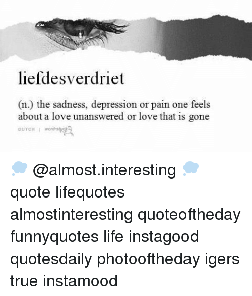 Liefdesverdriet The Sadness Depression Or Pain One Feels N