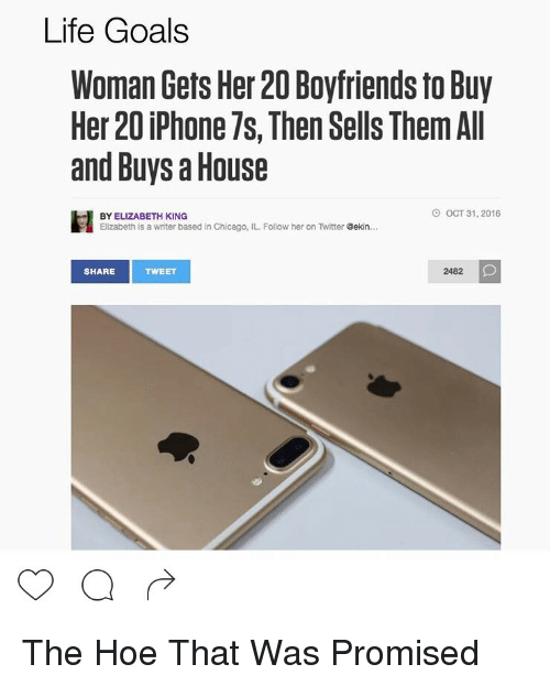 Life Goals Woman Gets Her 20 Boyfriends to Buy Her 20 iPhone 7s Then