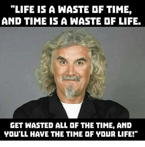 life is a waste of time