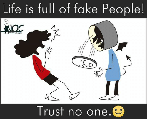 Life Is Full Of Fake People Noone Cares D Trust No One Meme On Meme