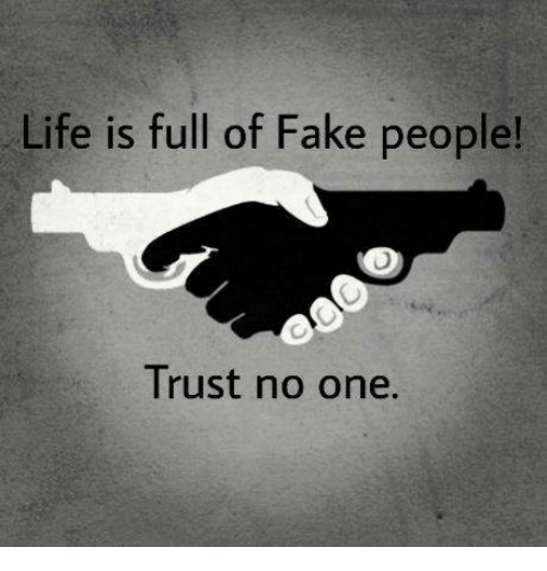 Memes, 🤖, and Fake People: Life is full of Fake people!  Trust no one.