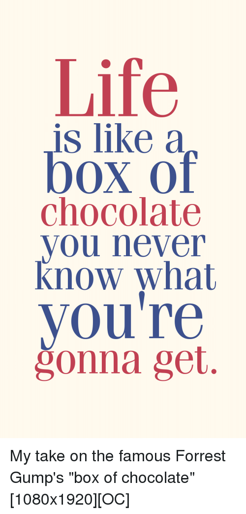 Life Chocolate and Never Life is like a box of chocolate you never know what youu0027re ?onna get.  sc 1 st  Me.me & ? 25+ Best Memes About Life Is Like a Box of Chocolate | Life Is ... Aboutintivar.Com