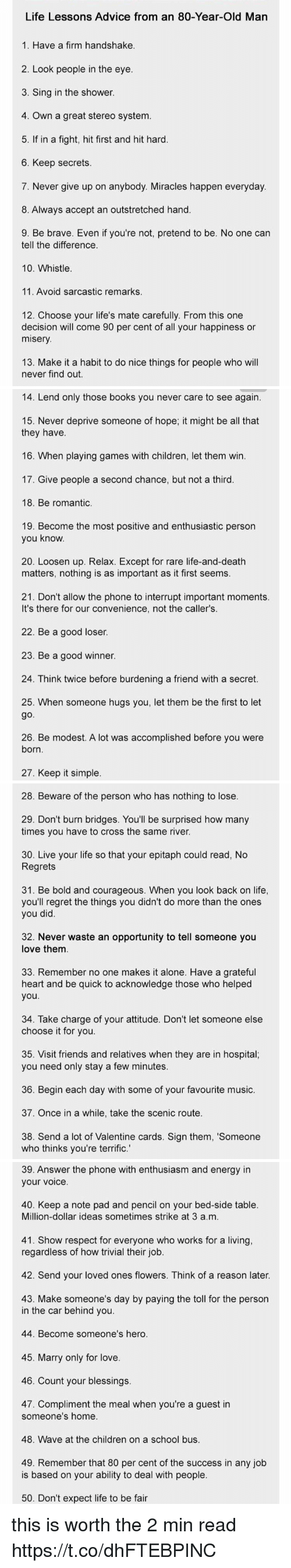 Life Lessons Advice From An 80