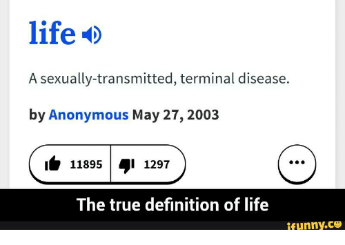 lifeD a Sexually-Transmitted Terminal Disease by Anonymous