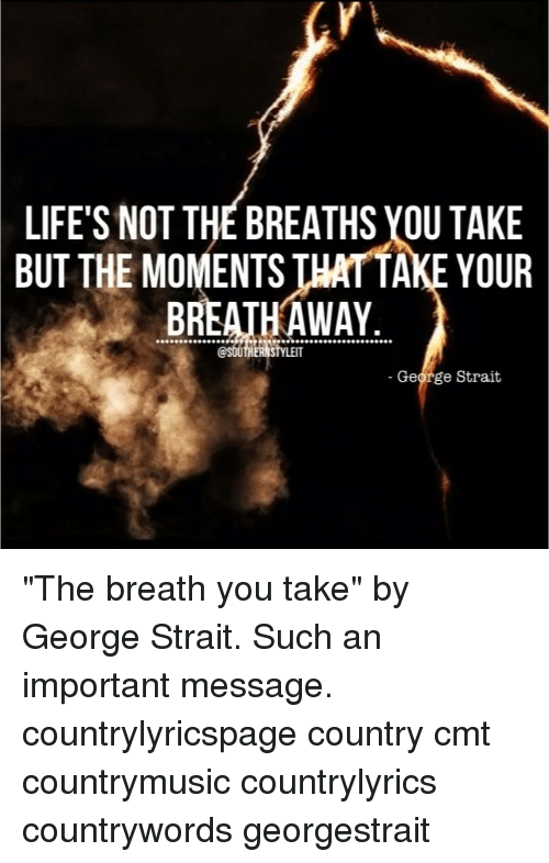 Lifes Not The Breaths You Take But The Moments Thattake Your Breath
