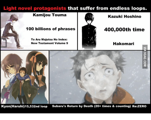 Light Novel Protagonists That Suffer From Endless Loops