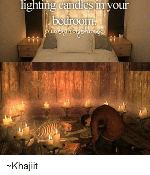 Memes, Candles, And 🤖: Lighting Candles In Your Bedroom ~Khajiit