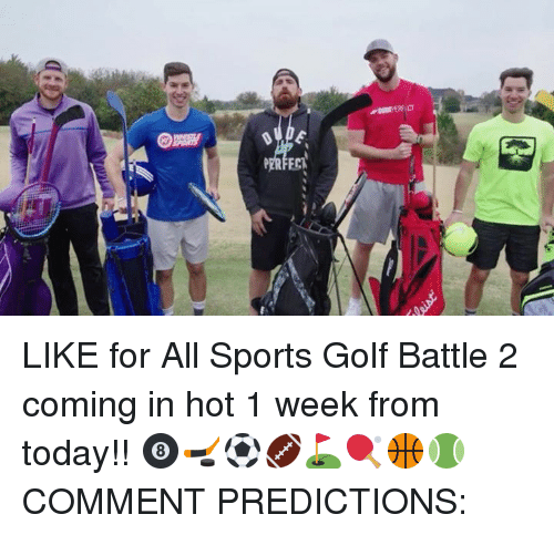 Home Market Barrel Room Trophy Room ◀ Share Related ▶ sports Golf Today hot all comment for like battle coming week From next collect meme → Embed it next → LIKE for All Sports Golf Battle 2 coming in hot 1 week from today!! 🎱🏒⚽️🏈⛳️🏓🏀🎾 COMMENT PREDICTIONS Meme sports Golf Today hot all comment for like battle coming week From Coming In Coming In Hot sports sports Golf Golf Today Today hot hot all all comment comment for for like like battle battle coming coming week week From From Coming In Coming In Coming In Hot Coming In Hot found @ 521 likes ON 2017-11-28 04:50:20 BY me.me source: facebook view more on me.me