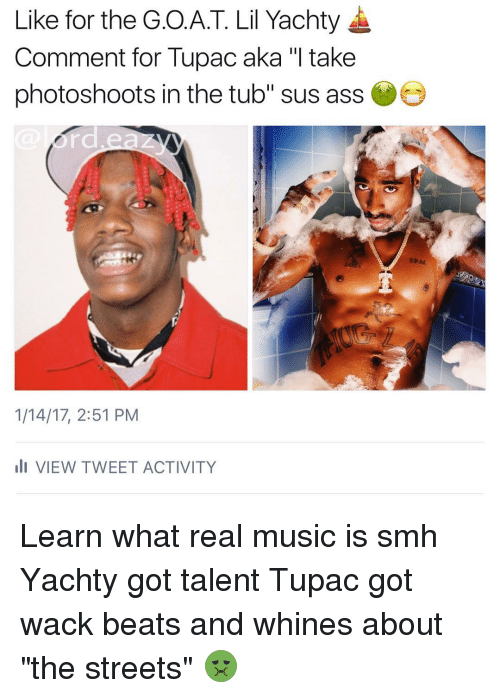 like for the goat lil yachty comment for tupac aka 12017652 ✅ 25 best memes about lil yachty lil yachty memes
