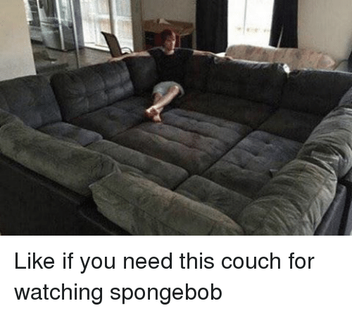 Memes Couch And Like If You Need This For Watching Spongebob