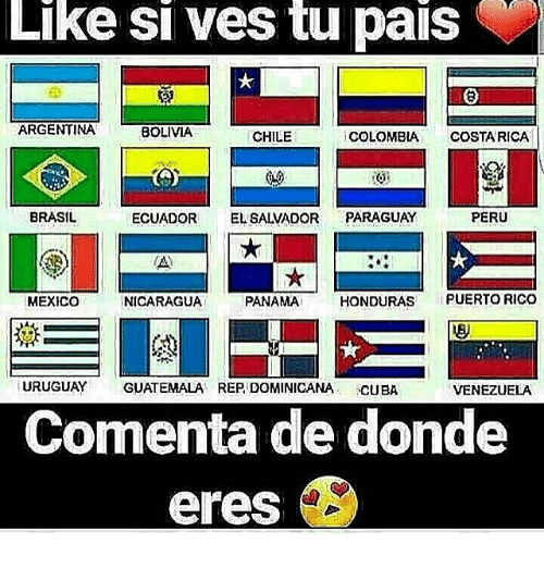 like si ves tu pais argentina bolivia chile colombia costa 21079766 ✅ 25 best memes about uruguay uruguay memes,Funny Guatemalan Memes