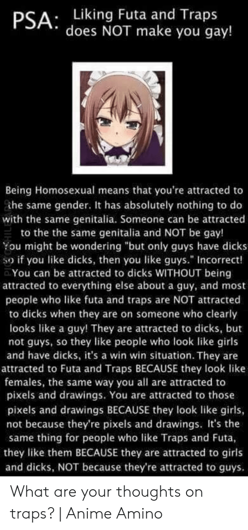Liking futa makes you gay