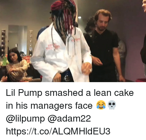 Lil Pump Smashed a Lean Cake in His Managers Face