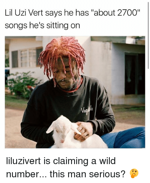 "Memes, Songs, and Wild: Lil Uzi Vert says he has ""about 2700""  songs he's sitting on liluzivert is claiming a wild number... this man serious? 🤔"