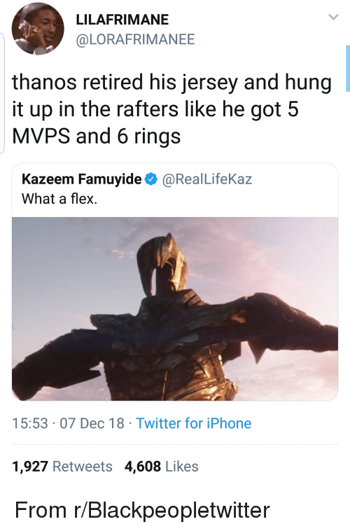 LILAFRIMANE Thanos Retired His Jersey and Hung It Up in the