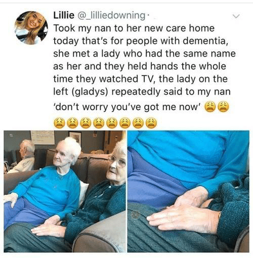 Lillie Lilliedowning Took My Nan to Her New Care Home Today