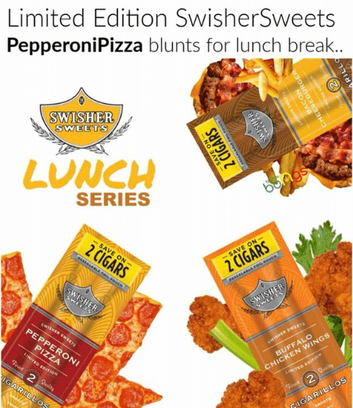 Limited Edition SwisherSweets PepperoniPizza Blunts for