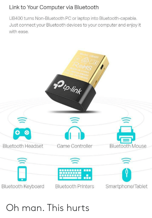 Link to Your Computer via Bluetooth UB400 Turns Non-Bluetooth PC or